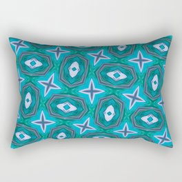 Aqua Sparkle Fashion Pattern  Rectangular Pillow