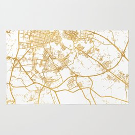 HAVANA CUBA CITY STREET MAP ART Rug