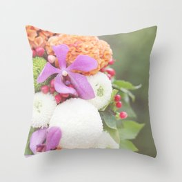 Floral Touch Throw Pillow