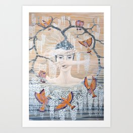 Wisteria tree Art Print