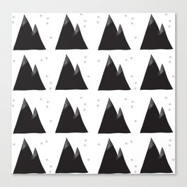 Twin Peaks Mountainscape Canvas Print
