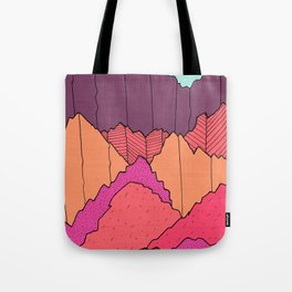Mountain Cliffs  Tote Bag