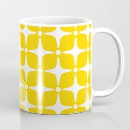Mid Century Modern Star Pattern Yellow 2 Coffee Mug