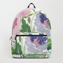 Purple and Pink Peonies Backpack