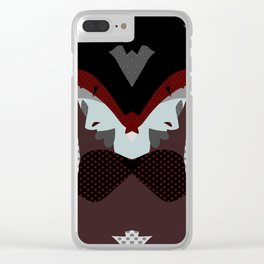 A red-haired woman - Abstrac42 Clear iPhone Case