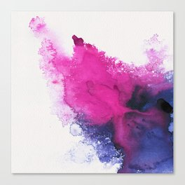 Watercolour splash Canvas Print