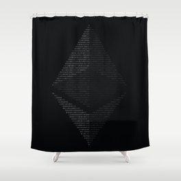 Ethereum Binary Shower Curtain