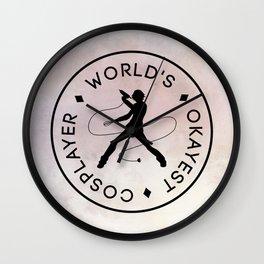 World's Okayest Cosplayer (Light) Wall Clock
