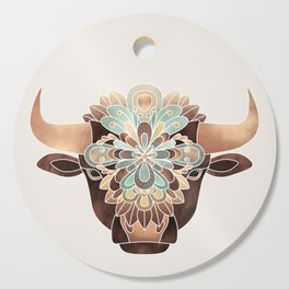Flower Bull Cutting Board