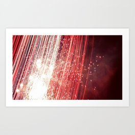 wall of red Art Print