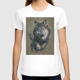 Wolf 2 background T-shirt