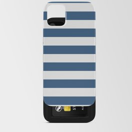 Blue and White Stripes iPhone Card Case