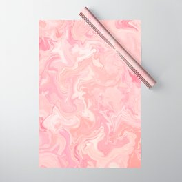Blush pink abstract watercolor marble pattern Wrapping Paper