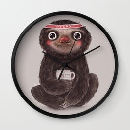 Sloth I♥lazy Wall Clock