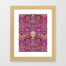 Art Nouveau Floral, Plum, Beige and Deep Purple Framed Art Print