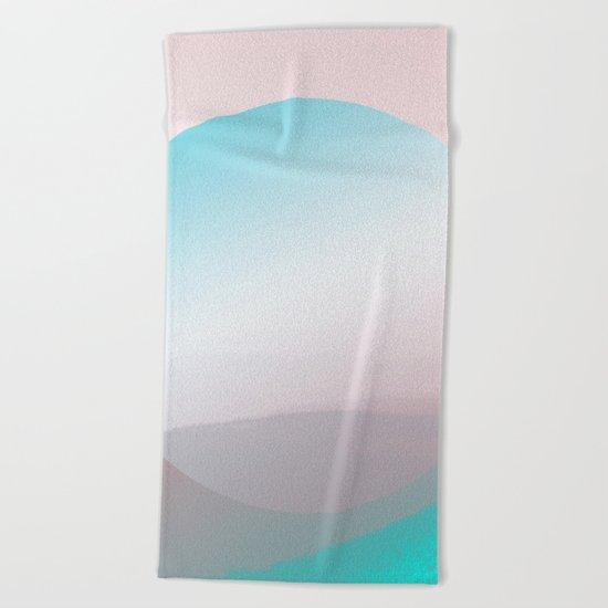 Modern Abstract Pink Blue Beach Towel
