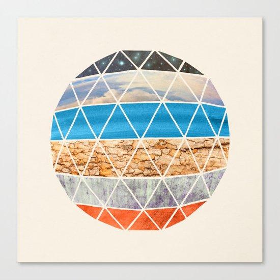 Eco Geodesic  Canvas Print