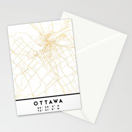 OTTAWA CANADA CITY STREET MAP ART Stationery Cards