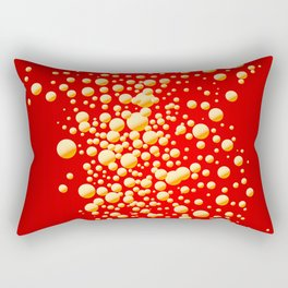 Red Party Bubble Background Rectangular Pillow