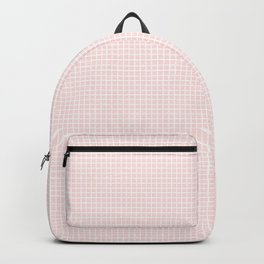 tiny pink grid Backpack