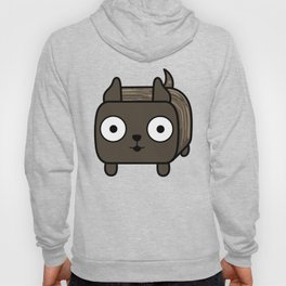Pitbull Loaf- Brindle Pit Bull with Cropped Ears Hoody