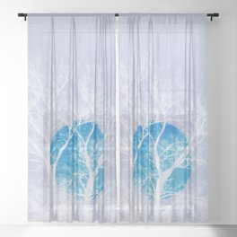 Once in a blue moon Sheer Curtain
