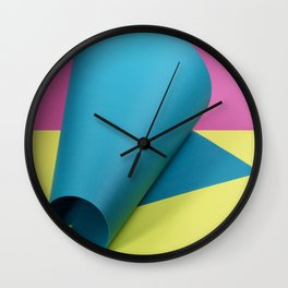 Abstract still life with colored forms Wall Clock