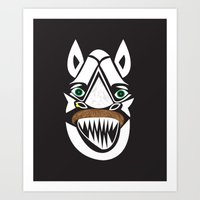 MAN OR BEAST-2? Art Print