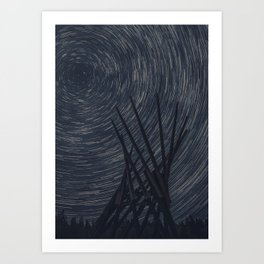 Spinning the skies Art Print
