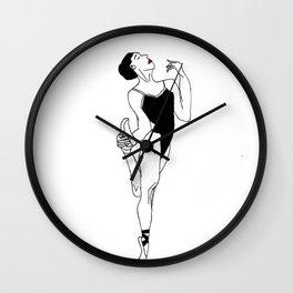 Ballerina with Elegance Wall Clock