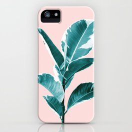 Ficus Elastica Finesse #2 #tropical #foliage #decor #art #society6 iPhone Case