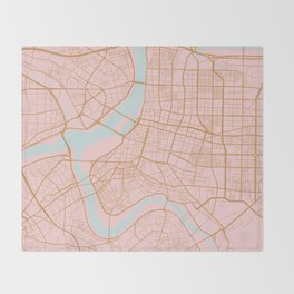 Taipei map, Taiwan Throw Blanket