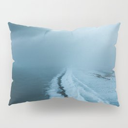 Moody Black Sand Beach in Iceland - Landscape Photography Pillow Sham