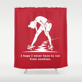 Running from Zombies Shower Curtain