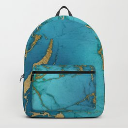 Electric Blue Marble Backpack
