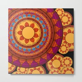 Ethnic Indian Mandala Metal Print