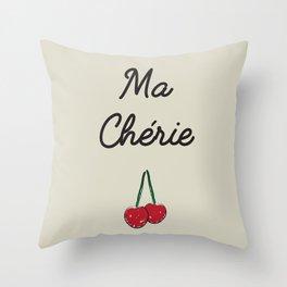 Ma Chérie Throw Pillow