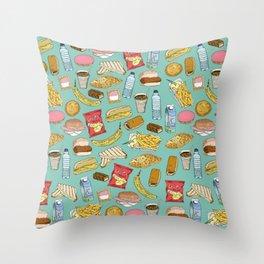 Schoollunch Throw Pillow