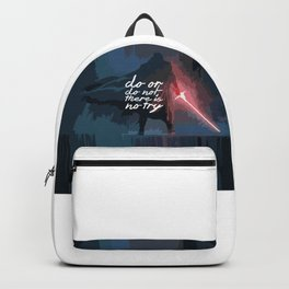 """Do or do not there is no try...""""Yoda"""" Life Inspirational Quote (Abstract Art) Backpack"""