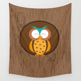 Owl - Good night Wall Tapestry