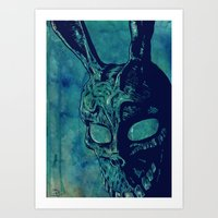 donnie darko Art Prints featuring Donnie Darko by Giuseppe Cristiano