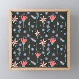 Floral Retro Framed Mini Art Print