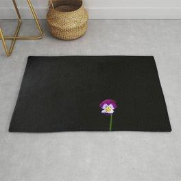 Violet Flower Rug