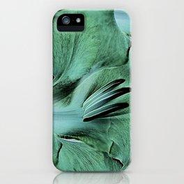 Gladioli Green iPhone Case