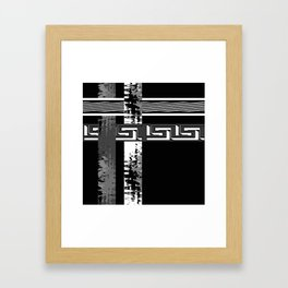 Creative Black and white pattern . The braided belts . Framed Art Print