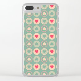 Cookie Love Retro Pattern Clear iPhone Case