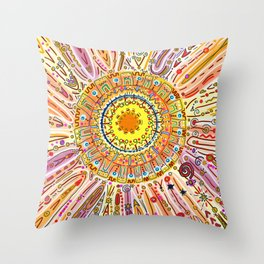 Sun Drawing Throw Pillow