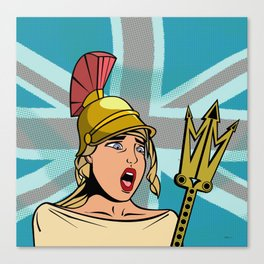 Britannia - Puffy Ross Pop Art (signed, dated 2020) Canvas Print