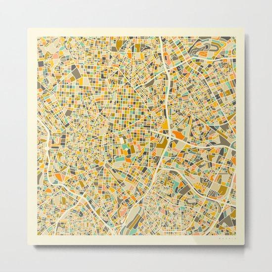 Madrid Map Metal Print