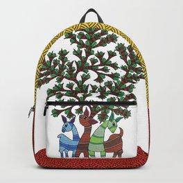 Gond painting - Deer Backpack